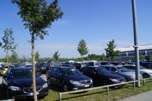 Parkplatz vor der Messe
